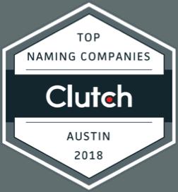 Clutch Top Naming Companies Award logo