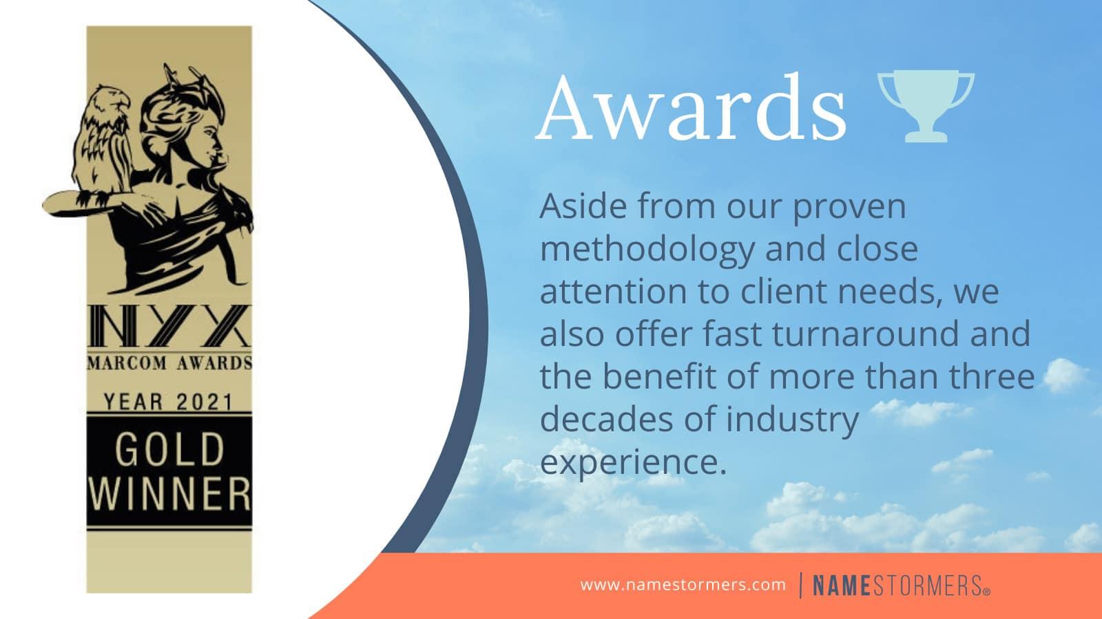 NYX marcom awards